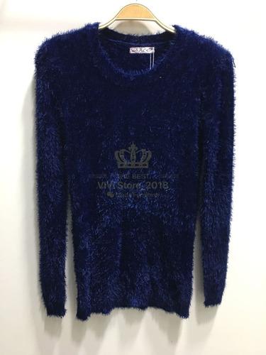 blusa pelinho de frio pelúcia feminina outono inverno kit 3