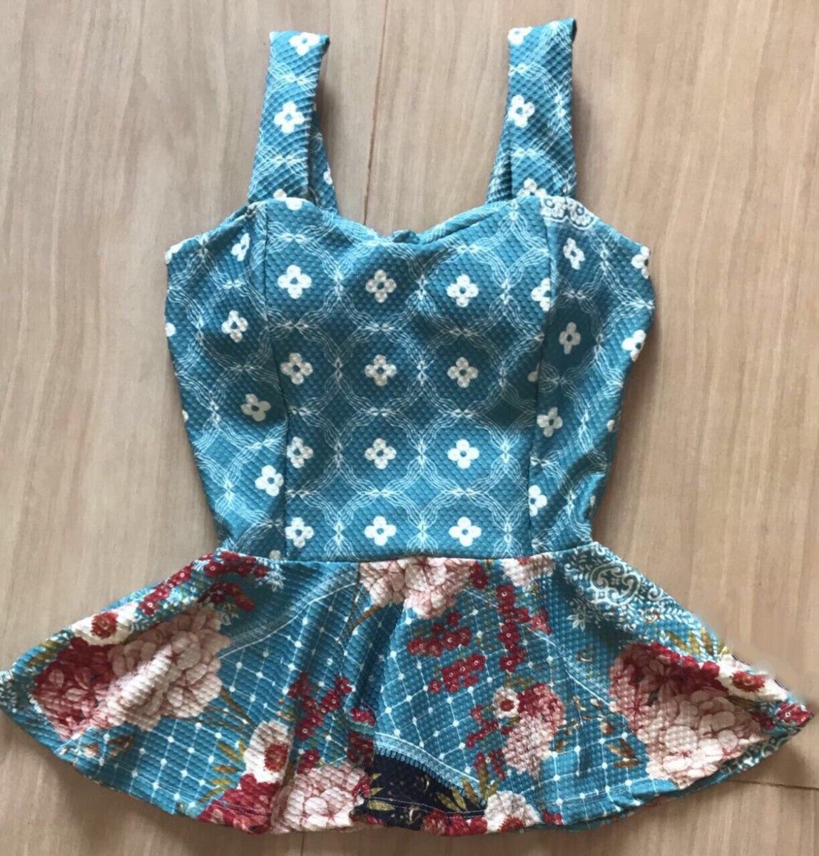 92f7a601be blusa peplum alça grossa com bojo decote coração. Carregando zoom.