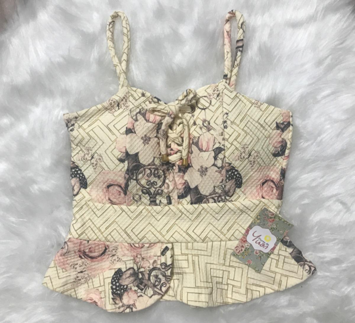 a7b2be74c Blusa Peplum Com Bojo Decote De Amarrar - R$ 79,90 em Mercado Livre