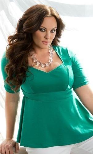 blusa peplum tallas plus diseñosextrem2013