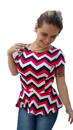 blusa peplum verão feminina pronta entrega