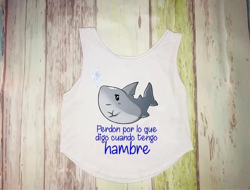 blusa personalízala tiburón chrismont talla unica
