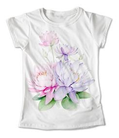 ca2f832cc Blusa Plantas Colores Playera Estampado Flor De Loto #183