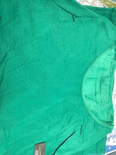 blusa playera dama térmica colores unitalla cuello redondo