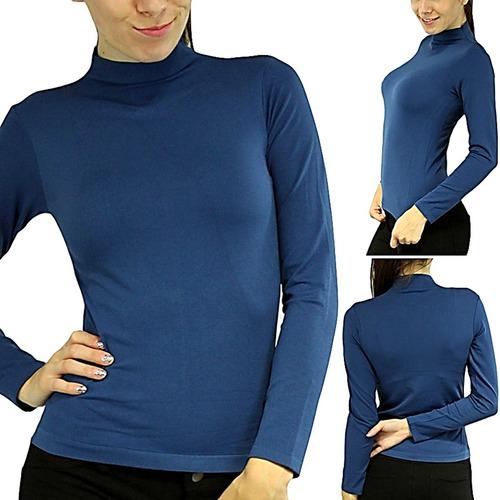 blusa playera para dama térmica de colores unitalla s m l