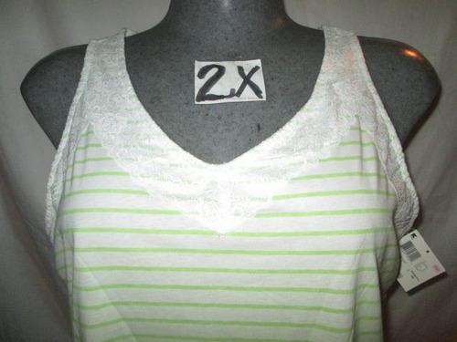 blusa playera sin manga   tallas 2x extragrandes