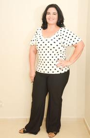 a613da217ef9 Blusa De Poa Plus Size - Calçados, Roupas e Bolsas Branco no Mercado ...