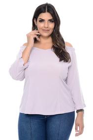 c7d22d61d5 Blusa Plus Size Ciganinha Em Viscose Calcados Roupas - Calçados ...