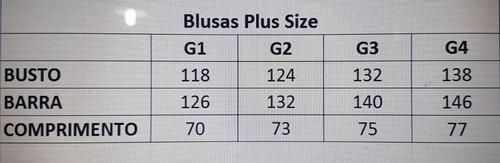 blusa plus size feminina g1- g2- g3 - g4
