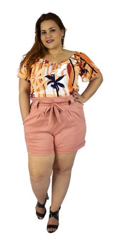blusa plus size manga ciganinha