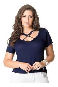 ef675f8ab89a Blusa Tiras Strappy Plus Size - Calçados, Roupas e Bolsas com o Melhores  Preços no Mercado Livre Brasil