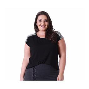 974250fb994d Blusa Paete Plus Size - Calçados, Roupas e Bolsas com o Melhores Preços no  Mercado Livre Brasil