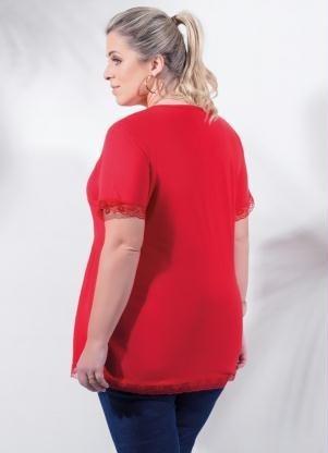 blusa plus size vermelha roupa tamanhos grandes g gg xxg xlg