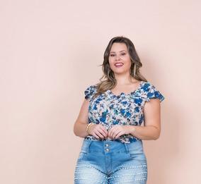 153a7badd Blusinha Feminina Blusa Feminina Plus Size Verão 2019