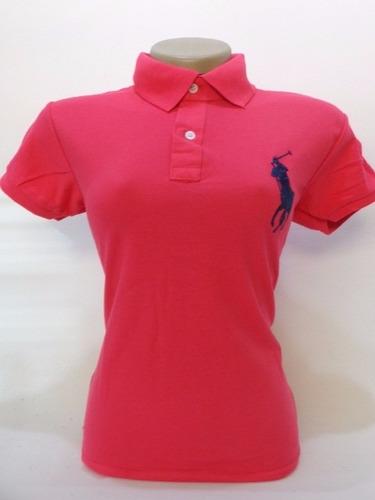 blusa polo feminina lote kit com 5 peças grifes famosas
