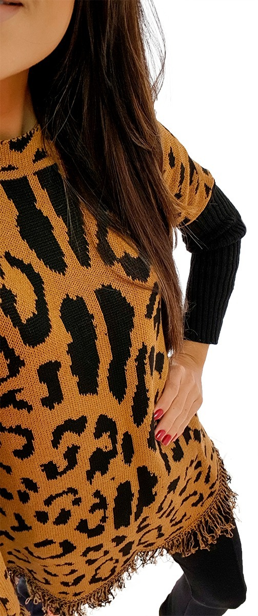 9c11d3d88 blusa ponche kimono casaco animal print onça estampa oncinha. Carregando  zoom.
