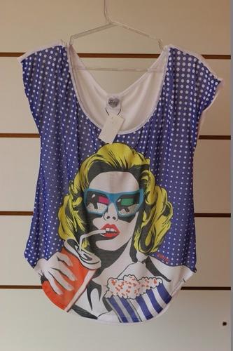 blusa pop art - fruto da imaginação