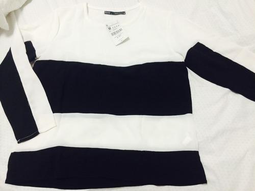 blusa preta e branca tamanho g