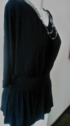 blusa preta em malha