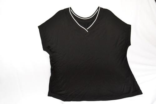 blusa preta feminina viscose manga japonesa tamanho p