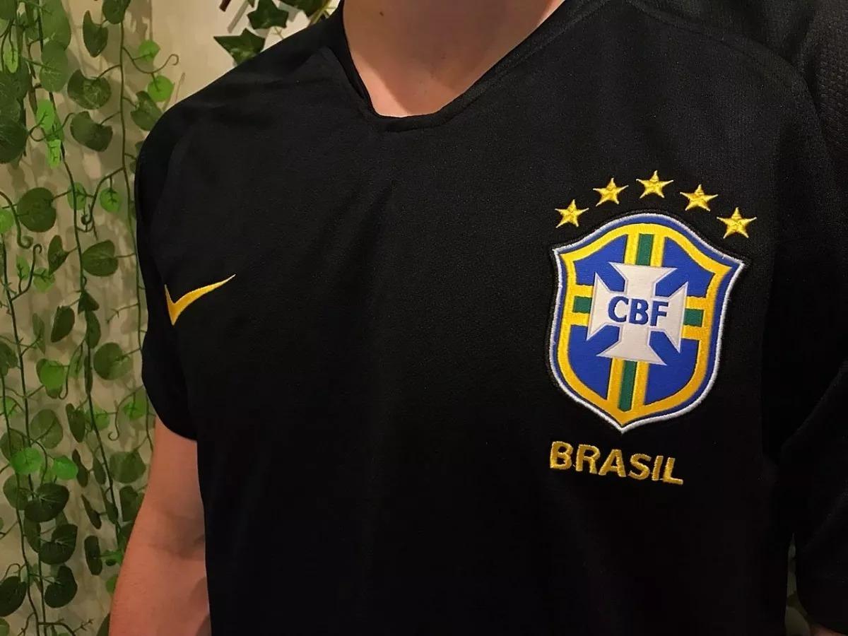 31192e9acc771 blusa preta goleiro brasil copa do mundo 18 copa america 19. Carregando zoom .