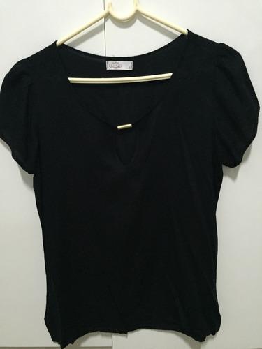 blusa preta  les alis  tamanho m usada