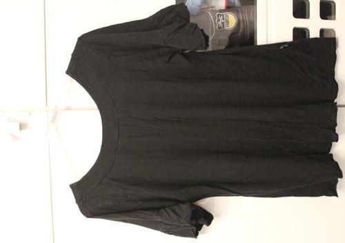 blusa preta manga curta - tam: g - c.272