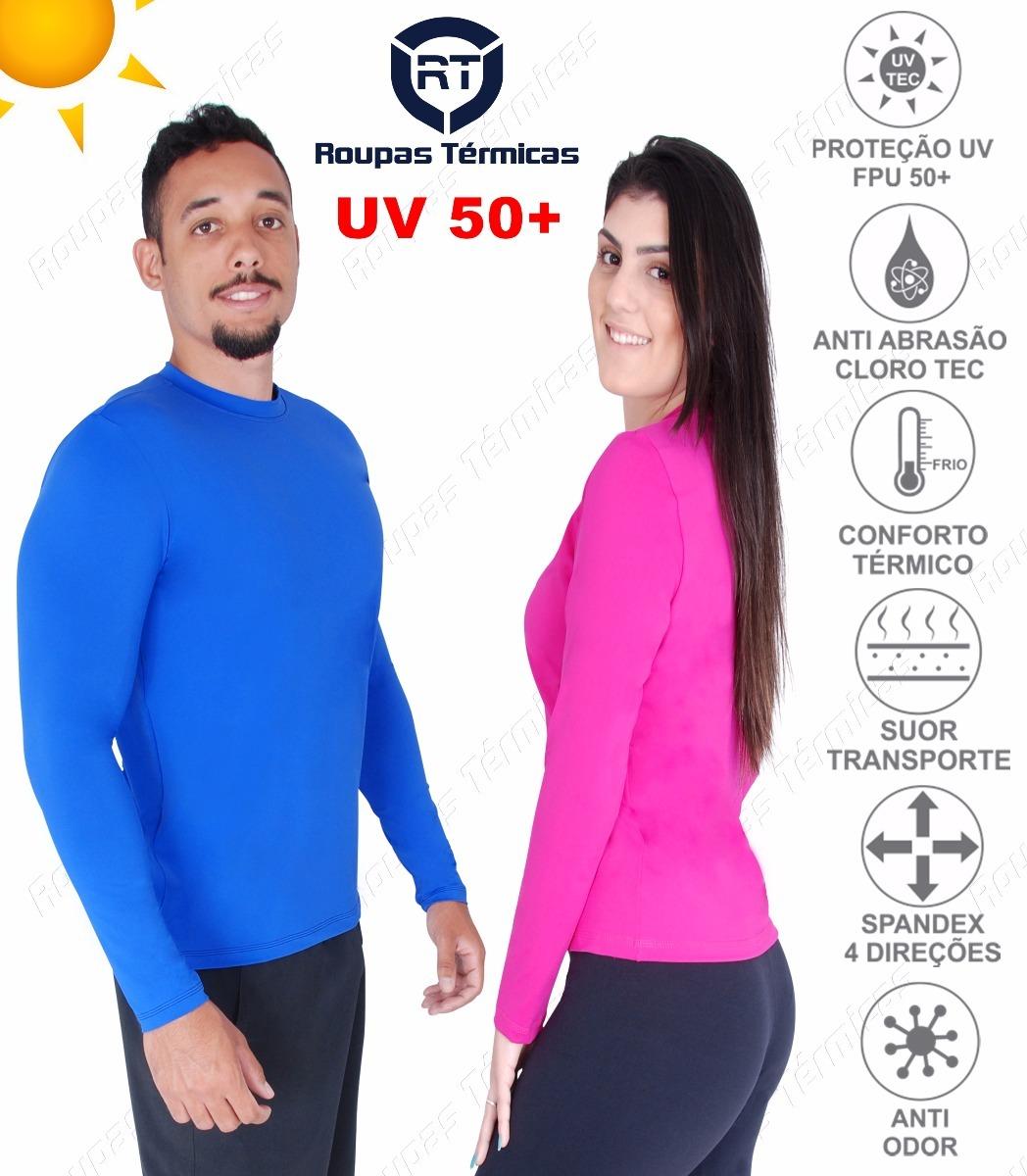 Blusa Proteção Solar Uv 50+ Malha Fria Dry Praia E Piscina - R  59 ... 055b949dc7a