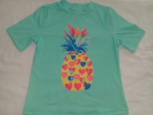 blusa proteção solar uva infantil abacaxi importada