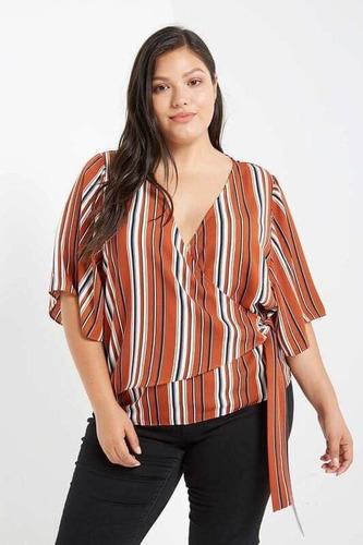 blusa rayada tallas extra