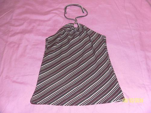 blusa rayas vino, blanco, negro  usa  talla  s  ,  usada