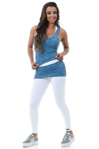 blusa regata canoan academia estampada fitness