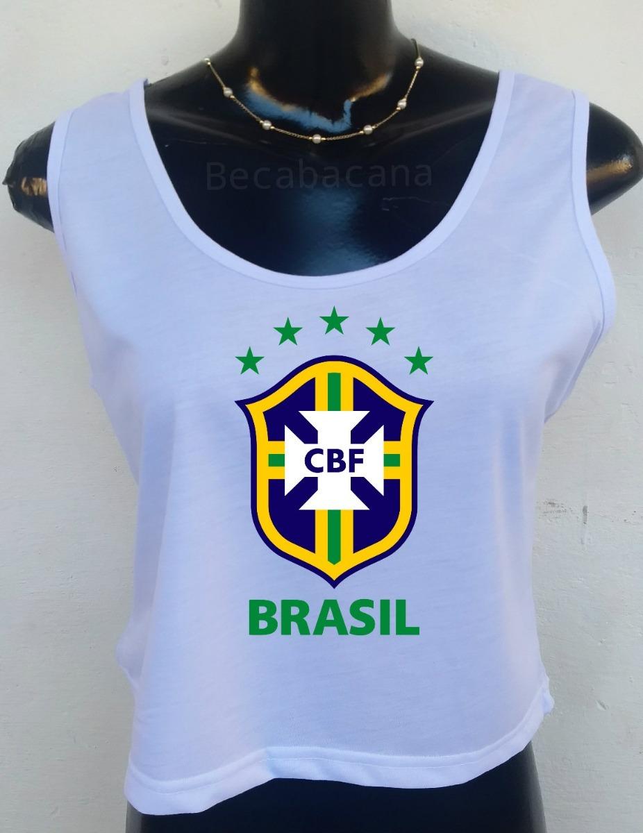 Carregando zoom... regata cropped blusa. Carregando zoom... blusa regata  feminina copa brasil seleção brasileira cropped 6cef43ebad4cc
