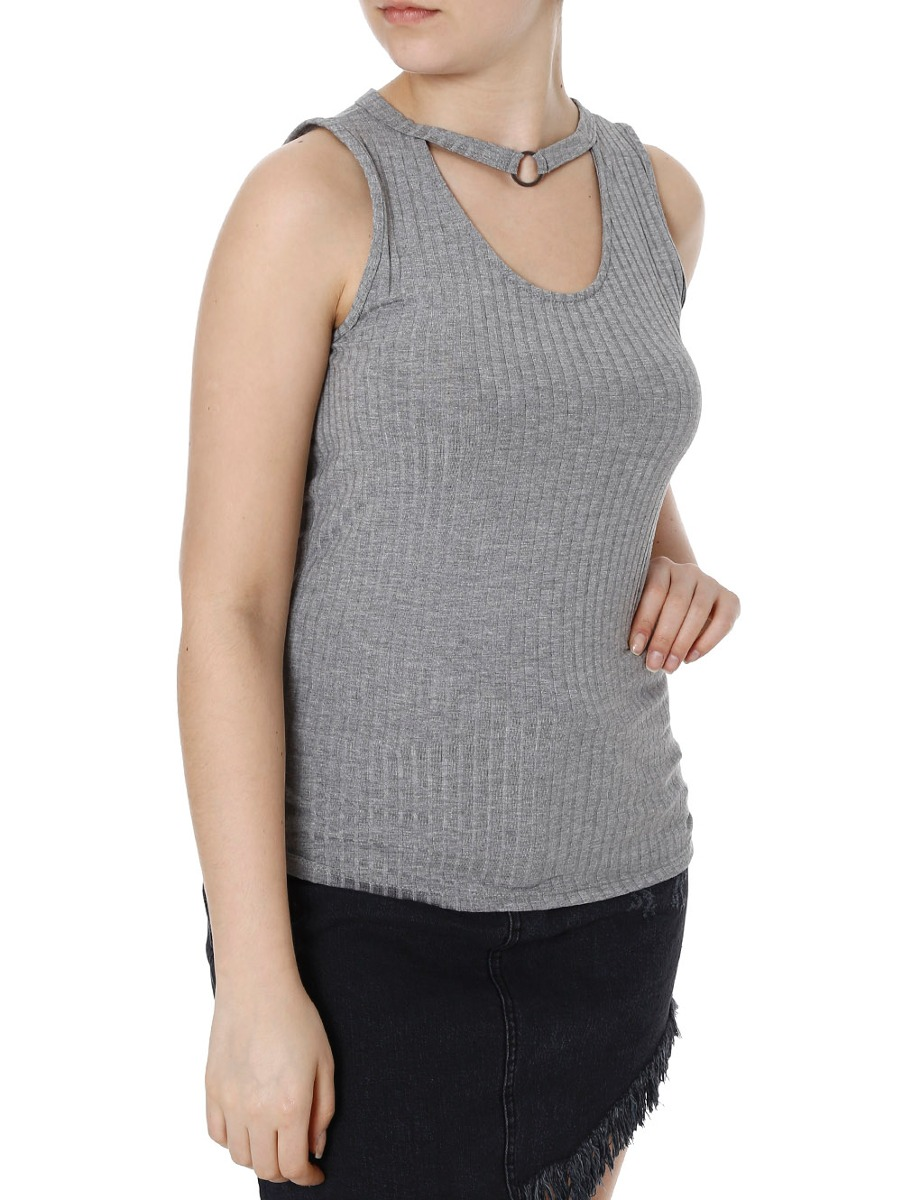 blusa regata feminina lunender cinza. Carregando zoom. 4e61b09d5ca