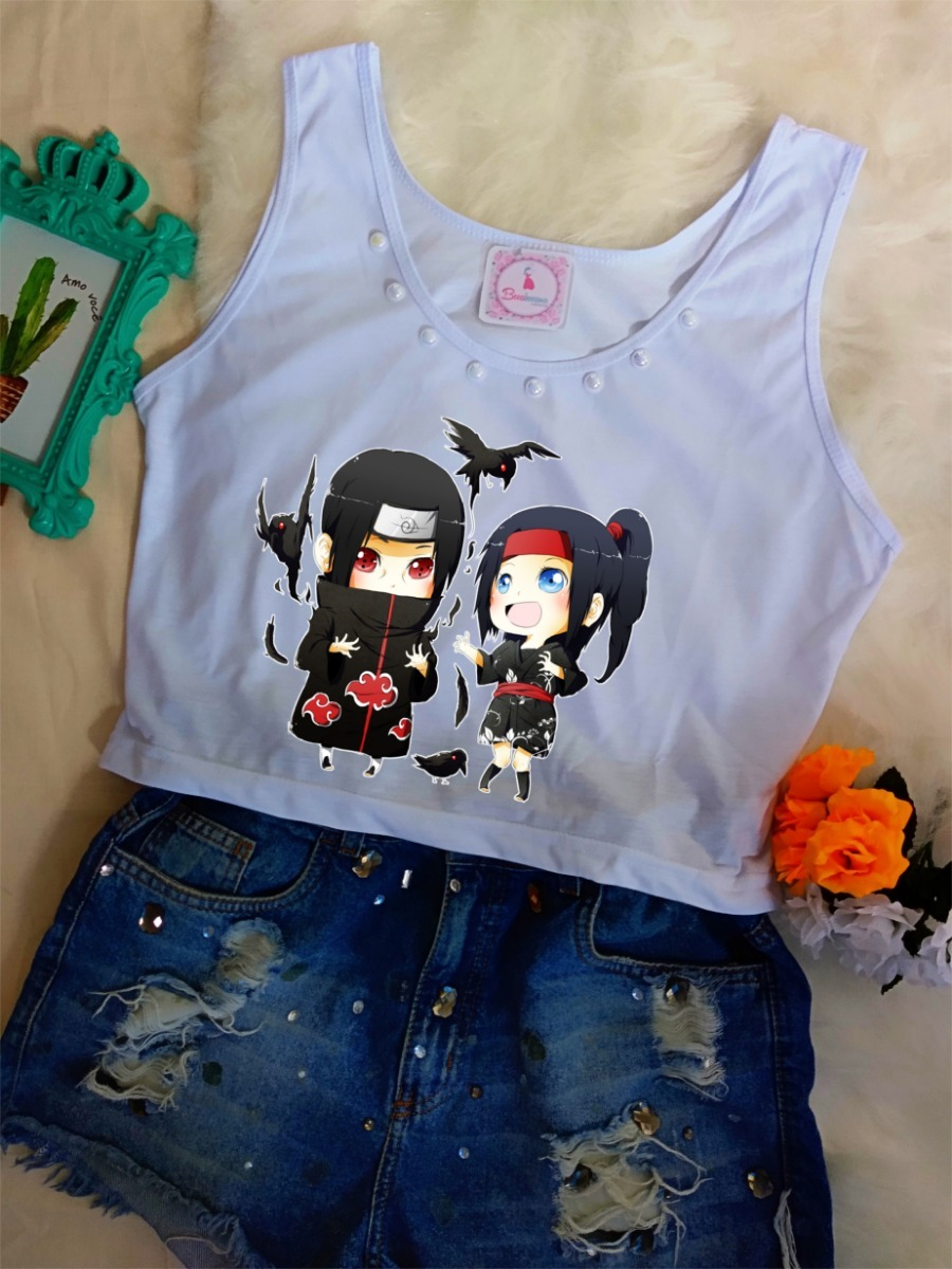 f5ee3b1ab18 blusa regata feminina naruto itachi anime mangá camiseta. Carregando zoom.