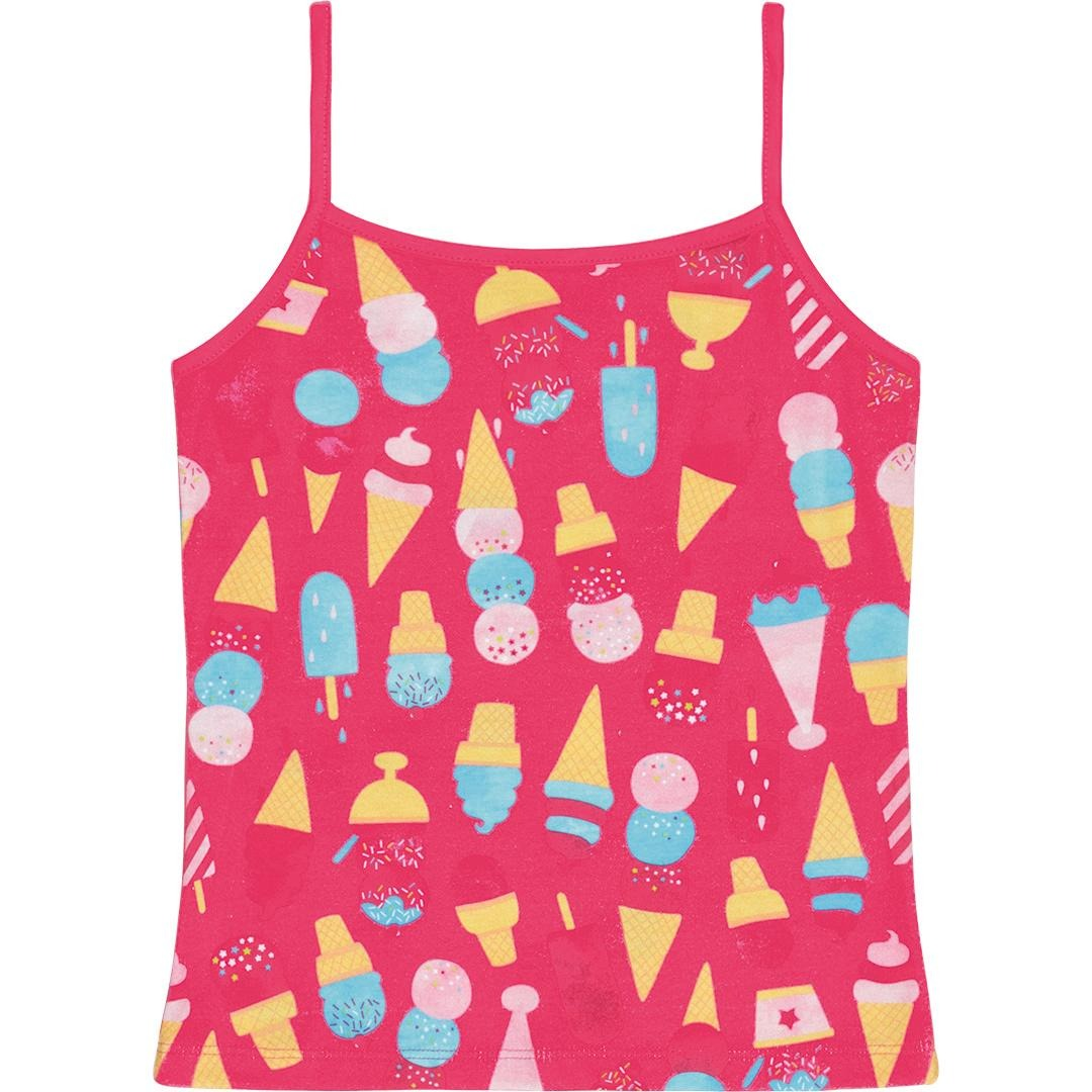 blusa regata infantil menina mineral kids estampa sorvete. Carregando zoom. 3343bc0114a