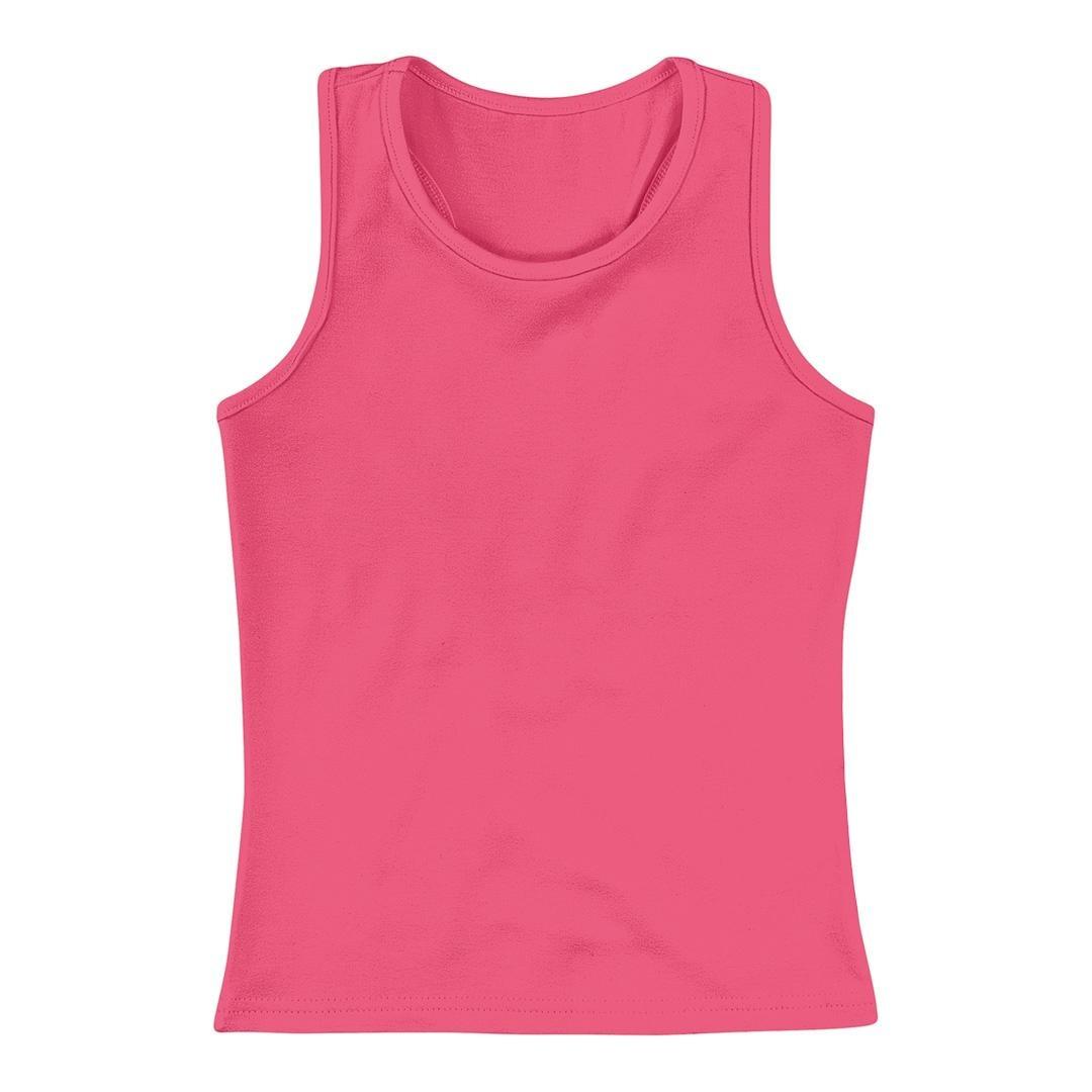 blusa regata infantil menina mineral kids rosa lisa. Carregando zoom. 9163d11703a