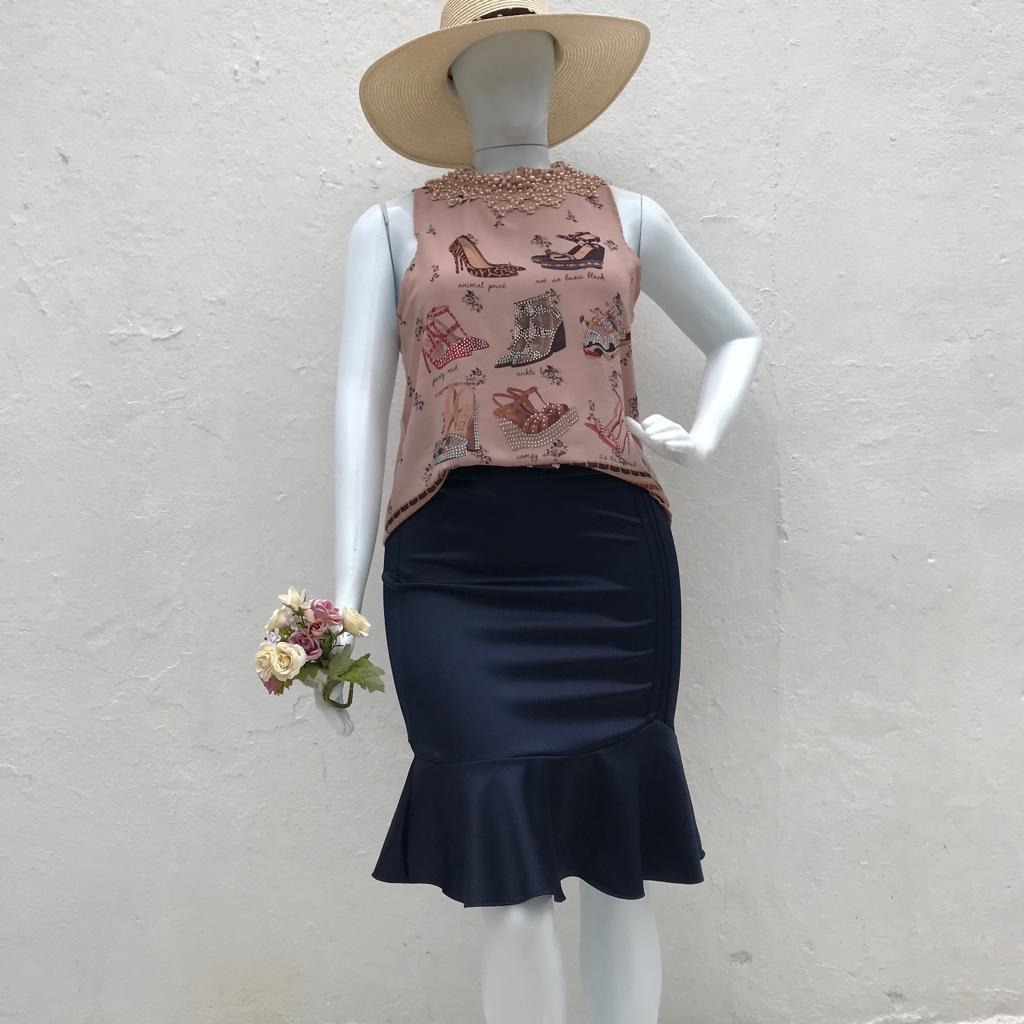 0d06bc088bc8b2 Blusa Regata Moda Feminina Perola Plus Size Liquidacao Renda