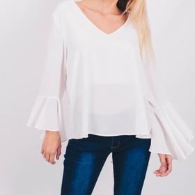 Blusa Remera Mujer Blanca