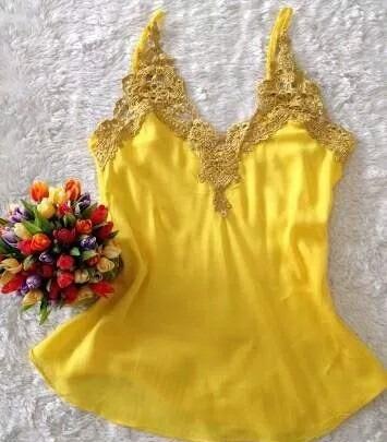 Blusa Renda Guipir Dourado Feminina Regata Alcinha Blusinha - R  22 ... de5fb6f936f