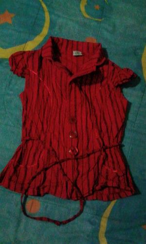 blusa roja para damas