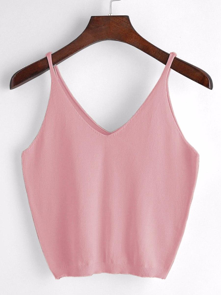 entrega gratis gama muy codiciada de selección asombrosa Blusa Rosa De Cuello V Con Tirantes