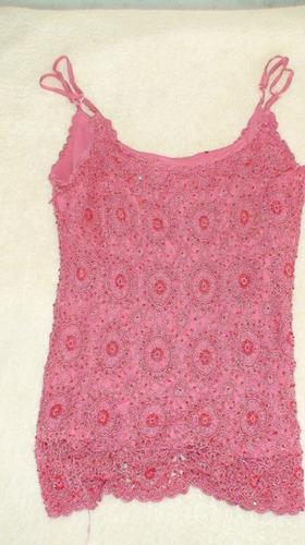 blusa rosa de tirantes