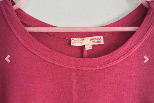 blusa rosa mexicano con nudo en costado