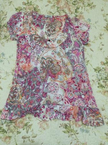 blusa rosa sem etiqueta serve um p