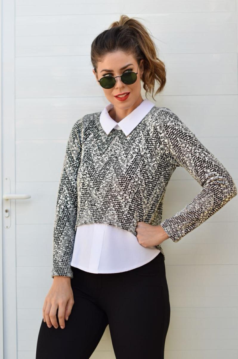 4ad8e52c0 blusa roupa feminina camisa embutida social moda evangélica. Carregando  zoom.
