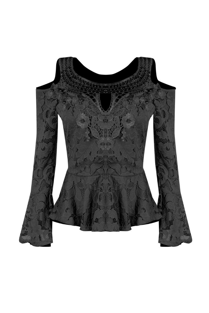 57f8e6a3a6 blusa roupas femininas manga longa peplum crepe decote v. Carregando zoom.