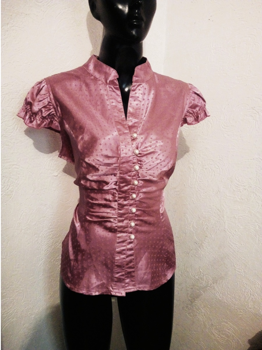 0611f062106f Blusa Satinada Rosa Talla L Marisa - $ 49.00