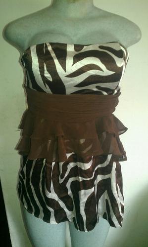 blusa seda y chifon animal print