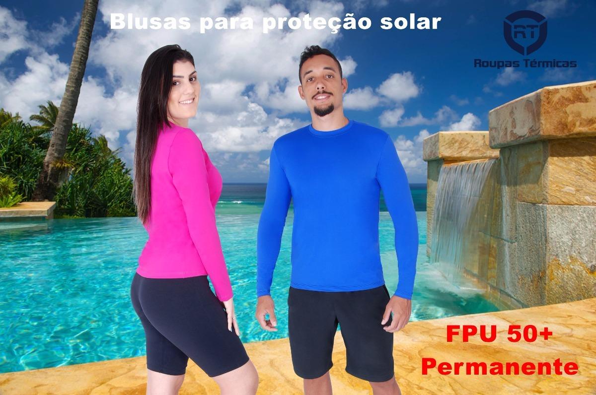 blusa segunda pele térmica praia piscina proteção solar uv50. Carregando  zoom. 71f8294185335